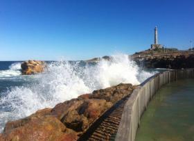 Faro de Cabo de Palos y la Isla del Pato